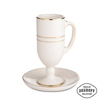 Café Brûlot Cup and Saucer Set