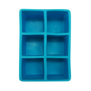 2in Square Ice Cube Tray - Blue